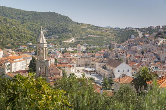 View over Hvar, Hvar Island, Dalmatia, Croatia, Europe-Frank Fell-Photographic Print