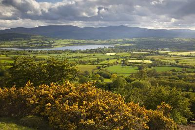 View over Llangorse Lake to Pen Y Fan from Mynydd Troed-Stuart Black-Photographic Print