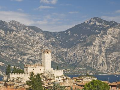 View over Malcesine and the Scaligero Castle, Lake Garda, Veneto, Italy, Europe-James Emmerson-Photographic Print