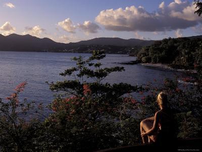 View Over Morne Larcher, Baie De La Chery (Chery Bay), Martinique-Guy Thouvenin-Photographic Print