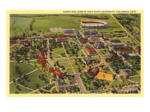 View over Ohio State University, Columbus, Ohio