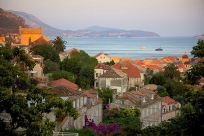 View over Old Town at Sunset, Dubrovnik, Dalmatia, Croatia, Europe-Frank Fell-Photographic Print