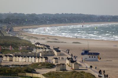 View over Plage De Riva Bella Beach, Ouistreham, Normandy, France, Europe-Stuart Black-Photographic Print