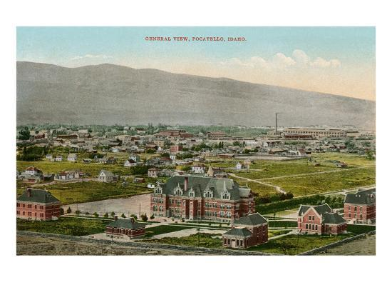 View over Pocatello, Idaho--Art Print