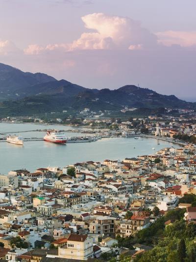 View over Port from the Venetian Kastro-Walter Bibikow-Photographic Print
