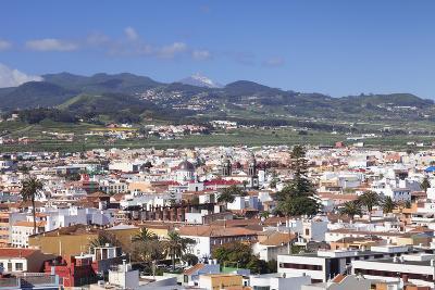 View over San Cristobal De La Laguna to Pico Del Teide, Tenerife, Canary Islands, Spain, Europe-Markus Lange-Photographic Print
