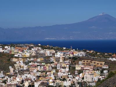 View over San Sebastian De La Gomera to Pico De Teide on Tenerife, Gomera, Canary Islands, Spain, A-Hans Peter Merten-Photographic Print