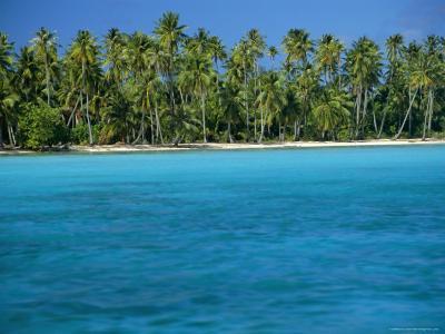 View Over Sea to the Beach, Bora Bora, Leeward Group, Society Islands, South Pacific Islands-Maurice Joseph-Photographic Print