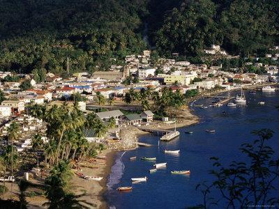 View Over Soufriere, St. Lucia, Windward Islands, West Indies, Caribbean, Central America-Yadid Levy-Photographic Print