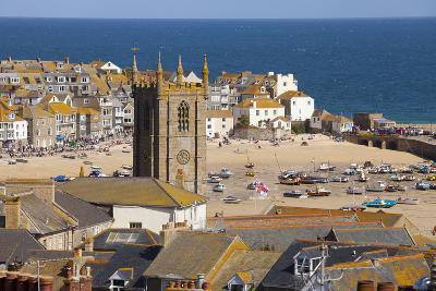 View over St. Ives, Cornwall, England, United Kingdom, Europe-Miles Ertman-Photographic Print