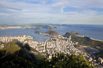 View over Sugarloaf Mountain in Guanabara Bay, Rio de Janeiro-Peter Adams-Photographic Print