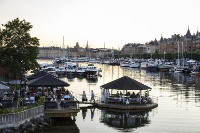 View over the Buildings and Boats Along Strandvagen Street, Stockholm, Sweden, Scandinavia, Europe-Yadid Levy-Photographic Print