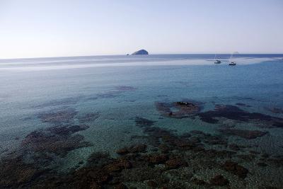 View over the Bull Island Sant'Antioco Sardinia, Italy, Mediterranean, Europe-Oliviero Olivieri-Photographic Print