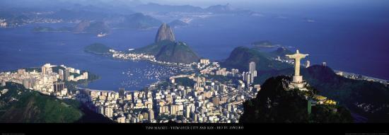 View over the City and Bay, Rio de Janeiro-Tom Mackie-Art Print