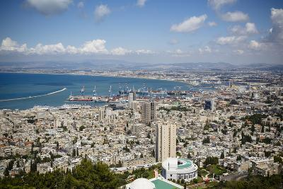 View over the City and Port, Haifa, Israel, Middle East-Yadid Levy-Photographic Print