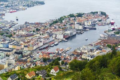 View over the City from Mount Floyen, Bergen, Norway, Scandinavia, Europe-Amanda Hall-Photographic Print
