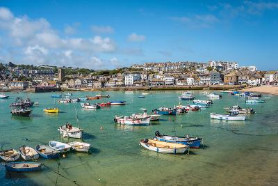 View over the Fishing Harbour of St Ives, Seen from Smeatons Pier, Cornwall, England, UK- Travelbild-Photographic Print