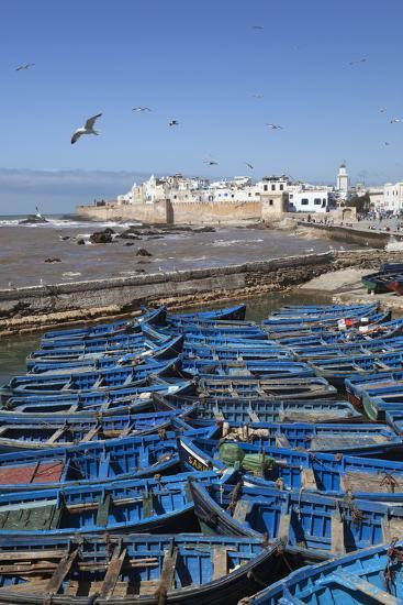 View over the Fishing Harbour to the Ramparts and Medina-Stuart Black-Photographic Print