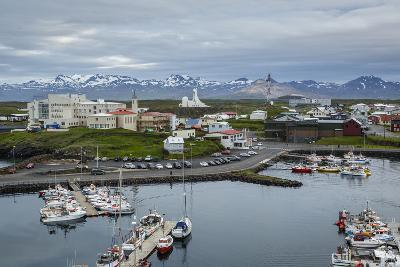 View over the Fishing Port and Houses at Stykkisholmur, Snaefellsnes Peninsula, Iceland-Yadid Levy-Photographic Print