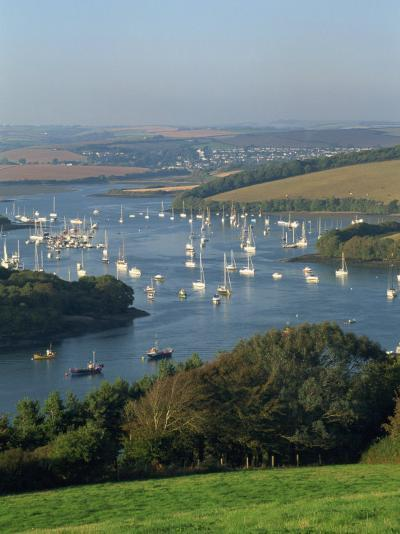 View over the Kingsbridge Estuary from East Portlemouth, Salcombe, Devon, England, United Kingdom-Tomlinson Ruth-Photographic Print