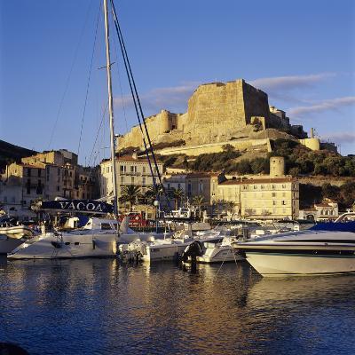 View over the Marina to Citadel and Haute Ville, Bonifacio, South Coast, Corsica, France, Mediterra-Stuart Black-Photographic Print