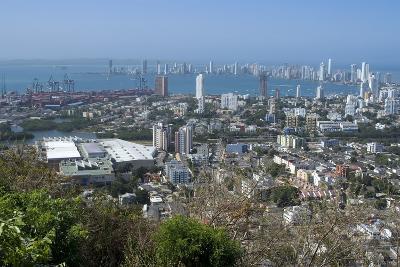 View over the Modern City from the Convento Santa Cruz La Popa, Cartagena, Colombia-Natalie Tepper-Photo