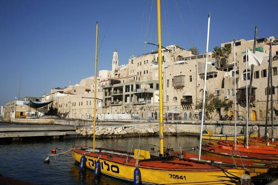 View over the Port and Old Jaffa, Tel Aviv, Israel, Middle East-Yadid Levy-Photographic Print