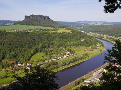 View over the River Elbe, Saxon Switzerland, Saxony, Germany, Europe-Michael Runkel-Photographic Print