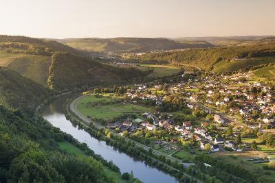 View over the Saar Valley with Saar River Near Serrig, Rhineland-Palatinate, Germany, Europe-Markus Lange-Photographic Print