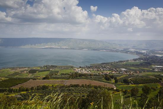 View over the Sea of Galilee (Lake Tiberias), Israel. Middle East-Yadid Levy-Photographic Print