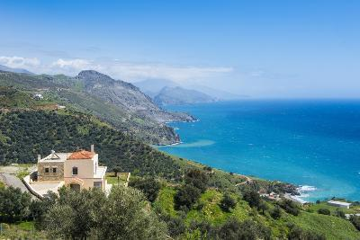 View over the South Coast of Crete, Greek Islands, Greece, Europe-Michael Runkel-Photographic Print