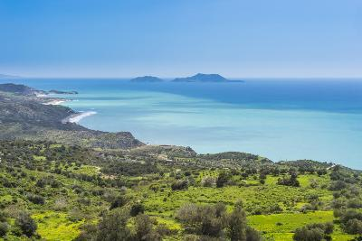 View over the South Coast of Crete with its Turquoise Waters, Crete, Greek Islands, Greece, Europe-Michael Runkel-Photographic Print
