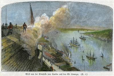 View over the St Lawrence River from the Citadel of Quebec, Canada, C1875--Giclee Print