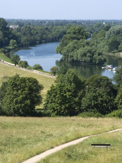 View Over the Thames From Richmond Hill, Richmond, Surrey, England, Uk--Photographic Print