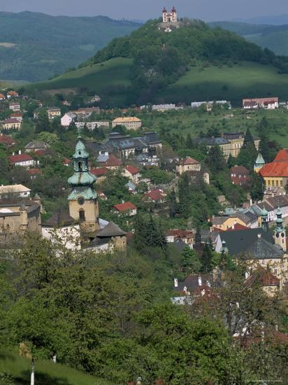 View Over the Town, Banska Stiavnica, Unesco World Heritage Site, Slovakia-Upperhall-Photographic Print