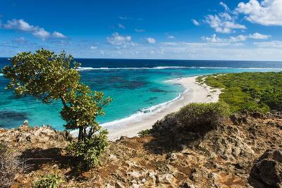 View over the Turquoise Waters of Barbuda-Michael Runkel-Photographic Print