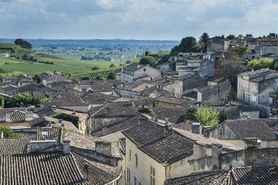View over the UNESCO World Heritage Site, St. Emilion, Gironde, Aquitaine, France, Europe-Michael Runkel-Photographic Print
