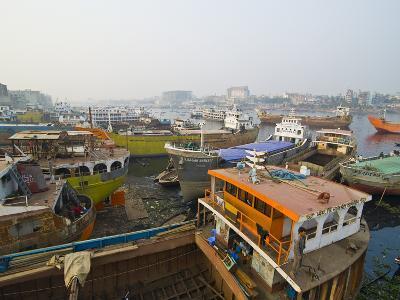 View Over the Wharf of Dhaka, Bangladesh, Asia-Michael Runkel-Photographic Print