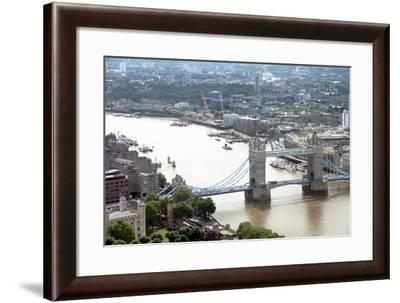 View over Tower Bridge from the Sky Garden, London, EC3, England, United Kingdom, Europe-Ethel Davies-Framed Photographic Print