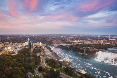 View over Victoria Park Towards Rainbow Bridge and the American Falls, Niagara Falls-Jane Sweeney-Photographic Print