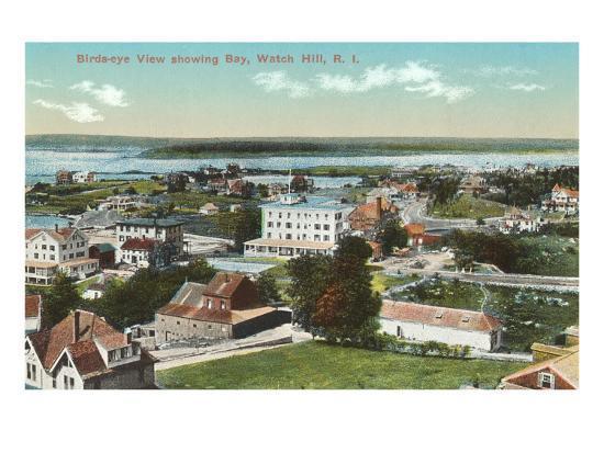 View over Watch Hill, Rhode Island--Art Print