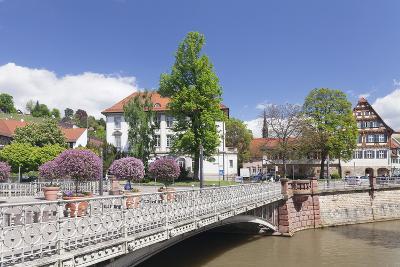 View over Wehrneckarkanal Chanel to Schwoerhaus House-Markus Lange-Photographic Print