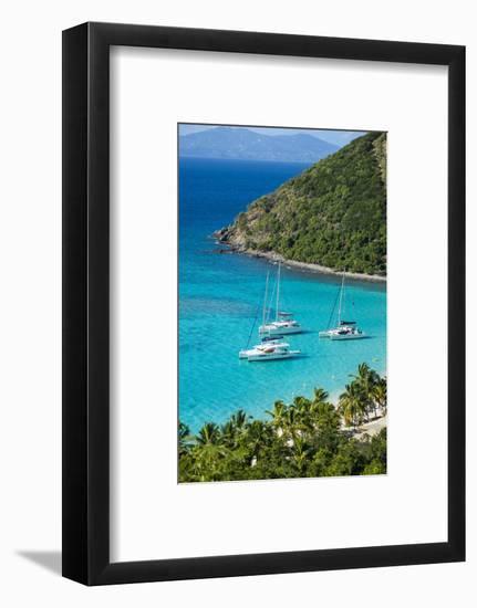 View over White Bay, Jost Van Dyke, British Virgin Islands, West Indies, Caribbean, Central America-Michael Runkel-Framed Photographic Print