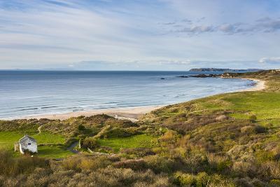 View over Whitepark Bay (White Park Bay), County Antrim, Ulster, Northern Ireland, United Kingdom-Michael Runkel-Photographic Print