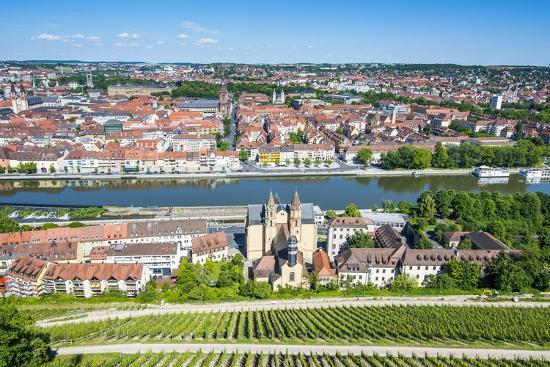 View over Wurzburg from Fortress Marienberg, Franconia, Bavaria, Germany, Europe-Michael Runkel-Photographic Print