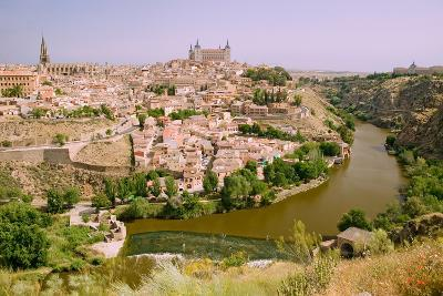 View overlooking the Tagus River and Toledo, Spain--Photographic Print