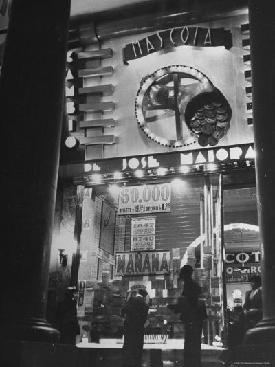 View Showing the Exterior of the Biggest Montevideo Place For Selling Lottery Tickets-Hart Preston-Photographic Print
