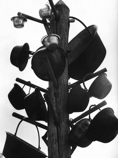 View Showing the Way the Puszta Shepherds Store their Various Cooking Utensils--Photographic Print