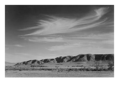 View South from Manzanar to Alabama Hills-Ansel Adams-Art Print