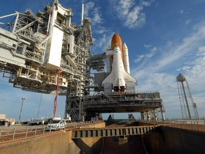 View Space Shuttle Atlantis on Launch Pad 39A at the Kennedy Space Center--Photographic Print